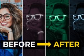 Glow Portrait Effect - Photoshop Tutorial - English Subtitles تاثير الجلو فوتوشوب 2020